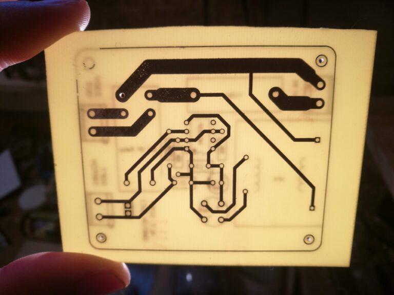 Izrada električne pločice – transfer dizajna acetonom